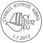 Cyprus Presidency of the Council of the EU 2012 Cancel mark