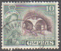 AMIANDOS Cyprus Stamps postmark DS4 Date Single Circle - (e800)