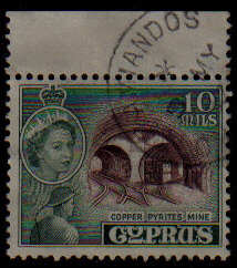AMIANDOS Cyprus Stamps postmark DS4 Date Single Circle - (e801)