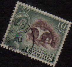 AMIANDOS Cyprus Stamps postmark DS4 Date Single Circle - (e809)
