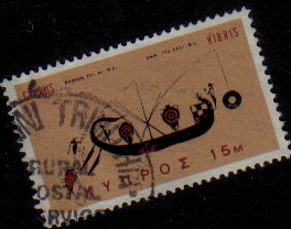 KOKKINI TRIMITHIA Cyprus Stamps postmark RP1 Rural Postal Service - (e554)