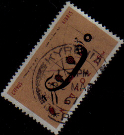 KYRENIA Cyprus Stamps postmark DD6 Datestamp Double Circle - (e558)