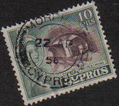 MORPHOU Cyprus Stamps postmark DD3 Datestamp Double Circle - (e808)