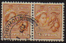 MORPHOU Cyprus Stamps postmark DD3 Datestamp Double Circle - (g328)