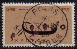 POLIS Cyprus Stamps postmark DS4 Date Single Circle - (e789)