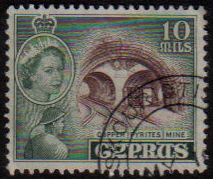 SKOURIOTISSA Cyprus Stamps postmark DD3 Datestamp Double Circle - (e814)