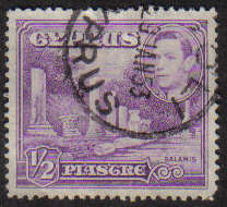 SOLI Cyprus Stamps postmark DS7 Date Single Circle - (g326)
