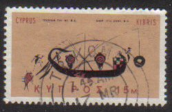 TRIKOMO Cyprus Stamps postmark DD7 Datestamp Double Circle - (g325)