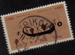 TRIKOMO Cyprus Stamps postmark DS7 Date Single Circle - (e780)