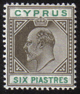 Cyprus Stamps SG 067 1904 Six Piastres King Edward VII - MLH (g408)
