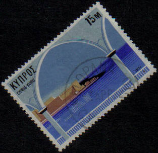KALOPANAYIOTIS Cyprus Stamps postmark DS7 Date Single Circle - (g464)