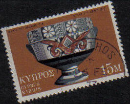 LAPITHOS Cyprus Stamps postmark DS4 Date Single Circle - (g454)