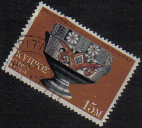 LAPITHOS Cyprus Stamps postmark DD7 Datestamp Double Circle - (g453)