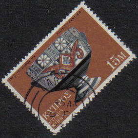 LARNACA Cyprus Stamps postmark DD7 Datestamp Double Circle - (g457)
