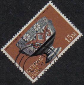 LARNACA Cyprus Stamps postmark DD7 Datestamp Double Circle - (g457)