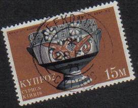 LEFKONIKO Cyprus Stamps postmark DD3 Datestamp Double Circle - (g455)