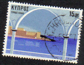 LYTHRODHONDA  Cyprus Stamps postmark DS7 Date Single Circle - (g414)