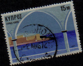 LYTHRODHONDA  Cyprus Stamps postmark DS7 Date Single Circle - (g473)