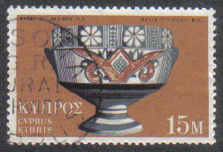 MESONA or YPSONA Cyprus Stamps Postmark GR Rural Service - (g447)