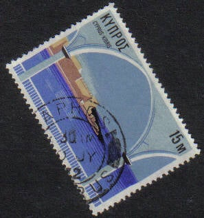PAPHOS Cyprus Stamps postmark DD6 Datestamp Double Circle - (g413)
