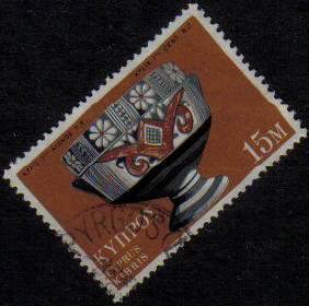 PYRGOS (LIMASSOL) Cyprus Stamps postmark RP11 Rural Postal Service - (g449)