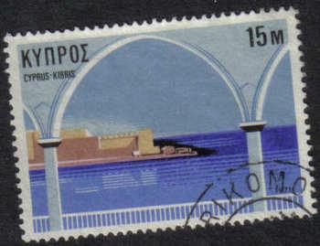 TRIKOMO Cyprus Stamps postmark DD7 Datestamp Double Circle - (g412)