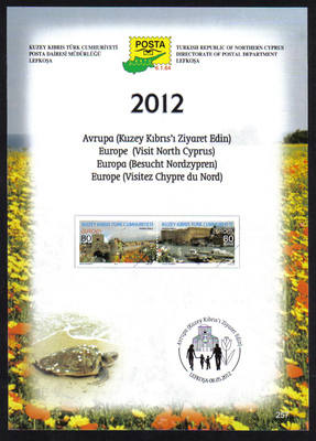 North Cyprus Stamps Leaflet 257 2012 Europa Visit