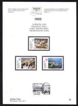North Cyprus Stamps Leaflet 076 1988 Touristic issue