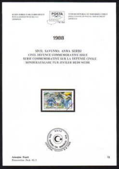 North Cyprus Stamps Leaflet 078 1988 Civil Defence