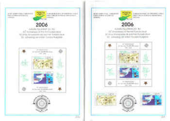 North Cyprus Stamps Leaflet 215 and 215a 2006 50th Anniversary of the first Europa issue