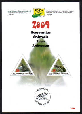 North Cyprus Stamps Leaflet 240 2009 Animals