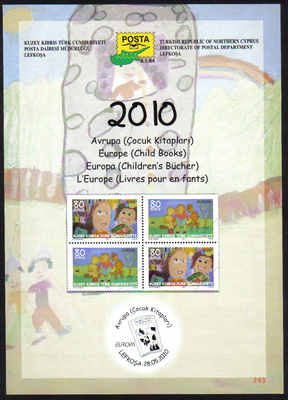 North Cyprus Stamps Leaflet 243 2010 Europa Childrens books