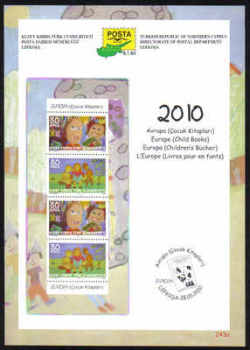 North Cyprus Stamps Leaflet 243a 2010 Europa Childrens books