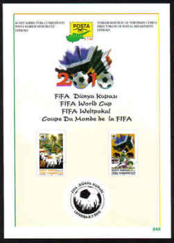 North Cyprus Stamps Leaflet 245 2010 FIFA World Cup South Africa