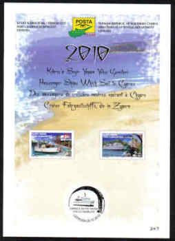 North Cyprus Stamps Leaflet 247 2010 Passenger ships which sail to Cyprus