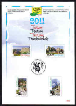 North Cyprus Stamps Leaflet 250 2011 Tourism