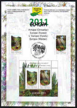 North Cyprus Stamps Leaflet 251 2011 Europa Forest