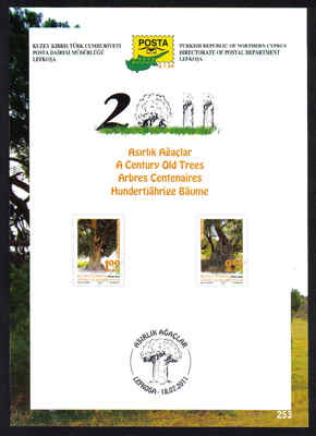 North Cyprus Stamps Leaflet 253 2011 Century old trees