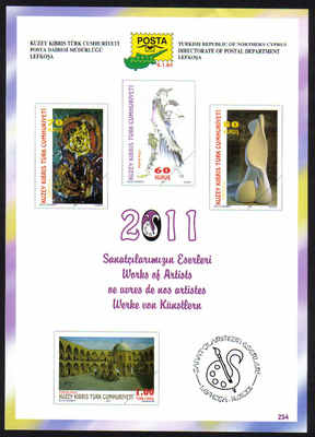 North Cyprus Stamps Leaflet 254 2011 Turkish Cypriot artists