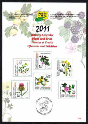 North Cyprus Stamps Leaflet 255 2011 Plant and Fruit