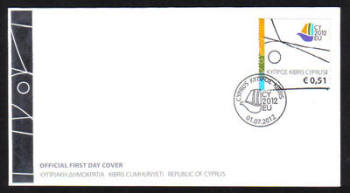 Cyprus Stamps SG 1279 2012 Cyprus Presidency of the Council of the EU 51 cents - Official FDC