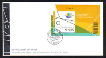 Cyprus Stamps SG 1280 MS 2012 Cyprus Presidency of the Council of the EU Mini sheet - Official FDC