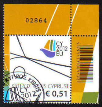 Cyprus Stamps SG 1279 2012 Cyprus Presidency of the Council of the EU - CTO USED (g477)