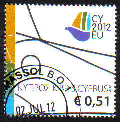 Cyprus Stamps SG 2012 (f) Cyprus Presidency of the Council of the EU - USED