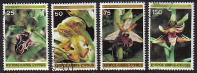 Cyprus Stamps SG 572-75 1981 Orchids - USED (g498)
