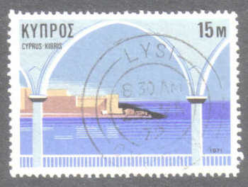 LYSI Cyprus Stamps postmark DD7 Datestamp Double Circle - (g409)