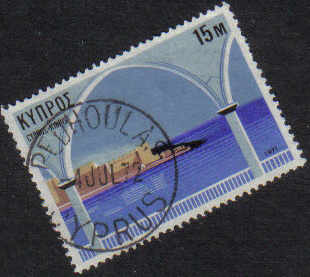 PEDHOULAS Cyprus Stamps postmark DS7 Date Single Circle - (g475)