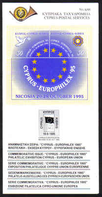 Cyprus Stamps Leaflet 1995 Issue No 6 - Europhilex 1995