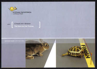 Cyprus Stamps Leaflet 2011 Issue No 9 The Hare and the Tortoise