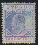 Cyprus Stamps SG 053 1903 Two Piastre - MH (g509)